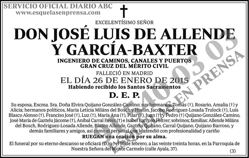 José Luis de Allende y García-Baxter